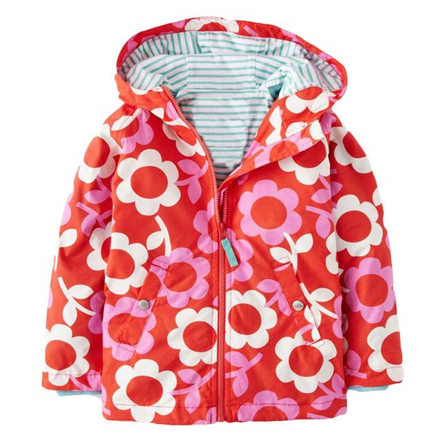 2016 новый, Детям толстовки пальто, Дети водонепроницаемый капюшоном пальто, Девушки верхняя одежда плащ