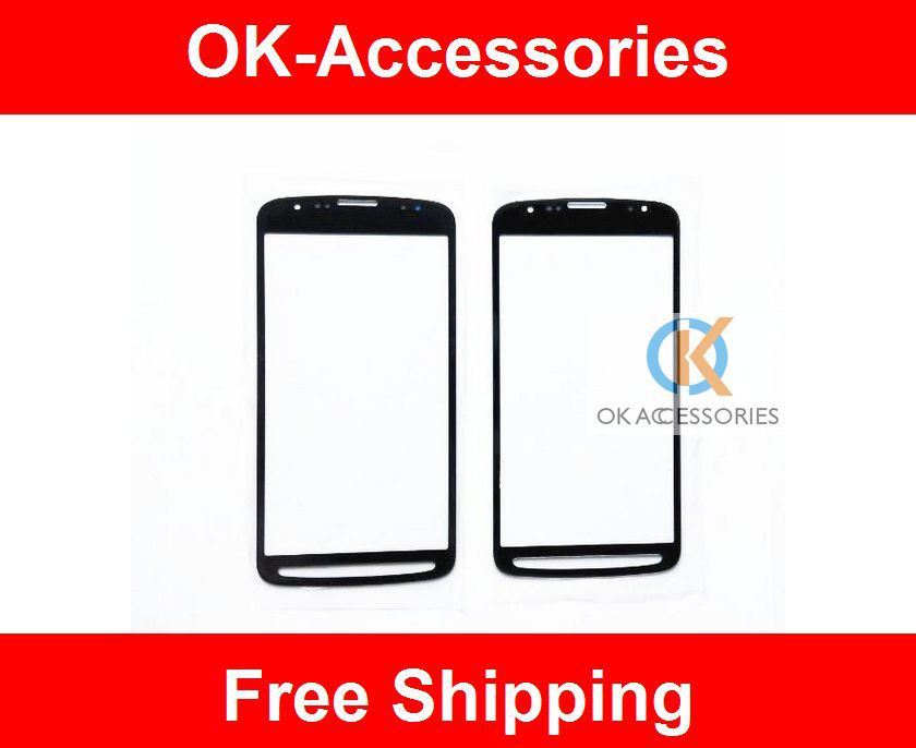 For Sumsung Galaxy S4 Active I9295 Front Glass Lens Outer Touch Glass Part Repair Assembly Black White Color 1PC/Lot(China (Mainland))