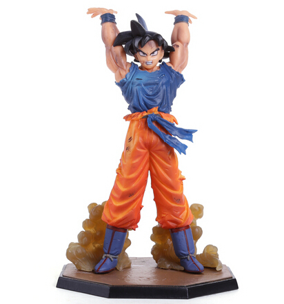 High quality - 6 inch dragon ball z action figures Son Goku Spirit Bomb Version PVC Collectible Toy model for Birthday Gift(China (Mainland))
