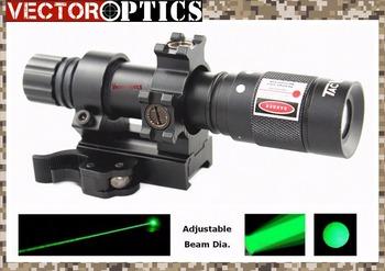 Vector Optics Hunting Green Laser Designator Flashlight Illuminator Torch with Barrel Mount , Remote Switch , Battery , Charger