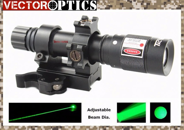 Vector Optics Hunting Green Laser Designator Flashlight Illuminator Torch with Barrel Mount , Remote Switch , Battery , Charger