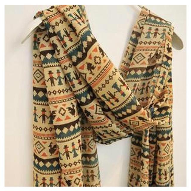 Роскошные девушку бренд шарф богемия мультфильм собака зимой женщины бархат шифон шарф длинный шелковый рождения подарок платки W1038