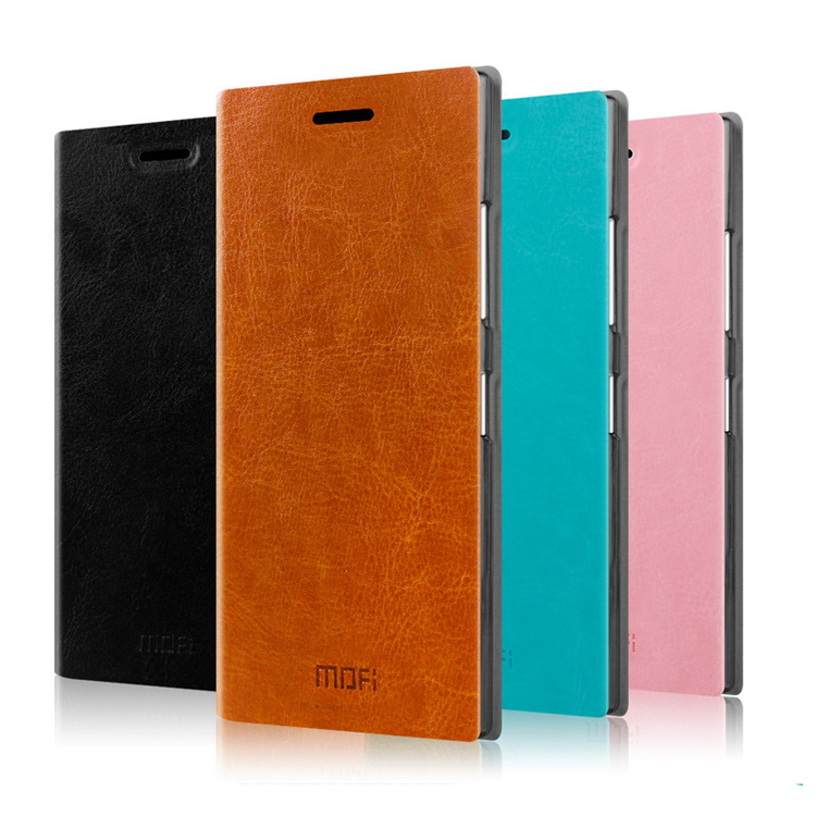 For Microsoft Lumia 735 Case Original Mofi Ultra Thin Flip Stand Leather Case For Microsoft Nokia Lumia 730 735 Phone Cover Bag(China (Mainland))