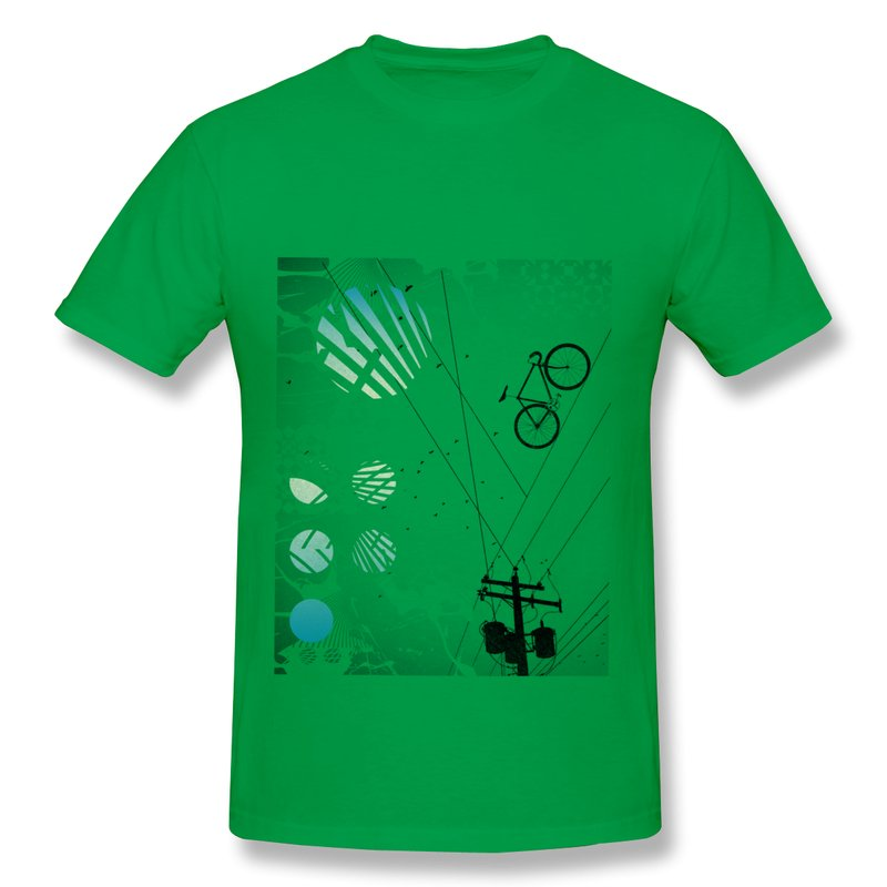 Solid T Shirt Men Bike Line Bycycle Creat Own Fun Text T-Shirts Men Brand New(China (Mainland))