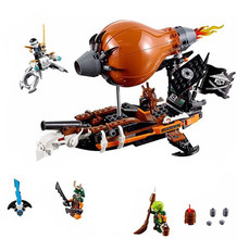 LEPIN 318pcs Command Zeppelin Ninjagoed Marvel Ninja Minifigures Model Toys Building Blocks Brick Compatible with Legoe juguetes