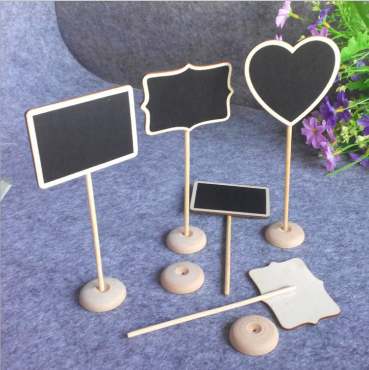 10pc wooden blackboard Chalkboard Wordpad Message Board Holder price sign wedding Place table card decoration Message