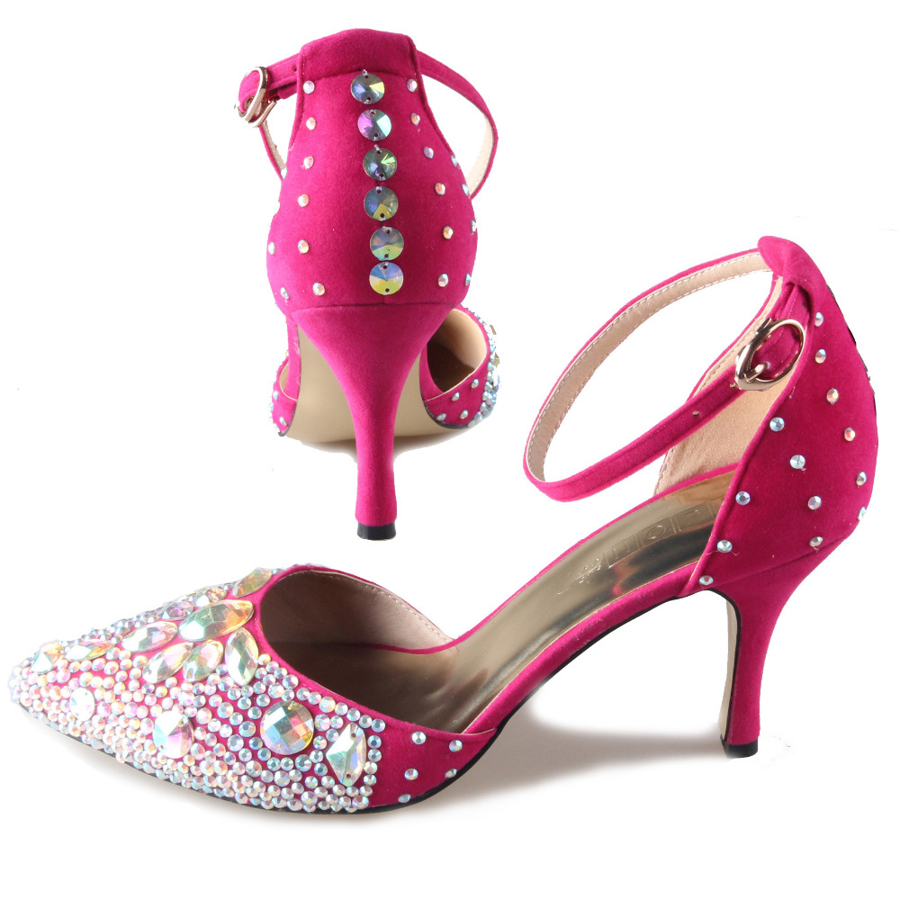 Hot Pink Low Heel Shoes - Is Heel