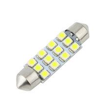 New Hot Selling 1pc Car Dome 12 3528-SMD LED Bulb Light Interior Festoon Lamp 42mm White~