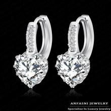 Big Sale 90% Off New Arrival Luxury Clip Earrings Stud Real Platinum Plated Ladies Earrings Wedding Jewelry CER0151-B