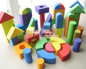 Free Shipping SURF Eva foam building blocks assembling educational toys Baby kids classic early learning educational toys