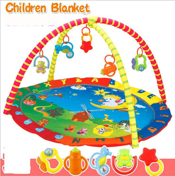Baby Toy Pad Fitness Blanket Game Send 5 BellsPlay Mat Toys Play Mothercare Gym Kids Carpet(China (Mainland))