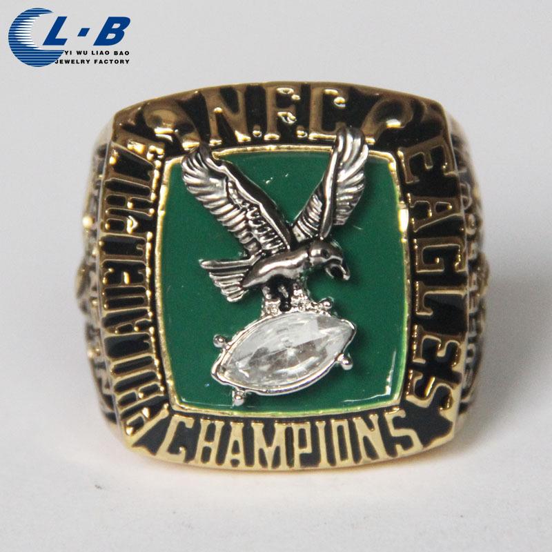 New NFC 1980 Philadelphia Eagles National Football Championship Ring, hadiah terbaik untuk laki-laki Free shipping,18k gold ring(China (Mainland))