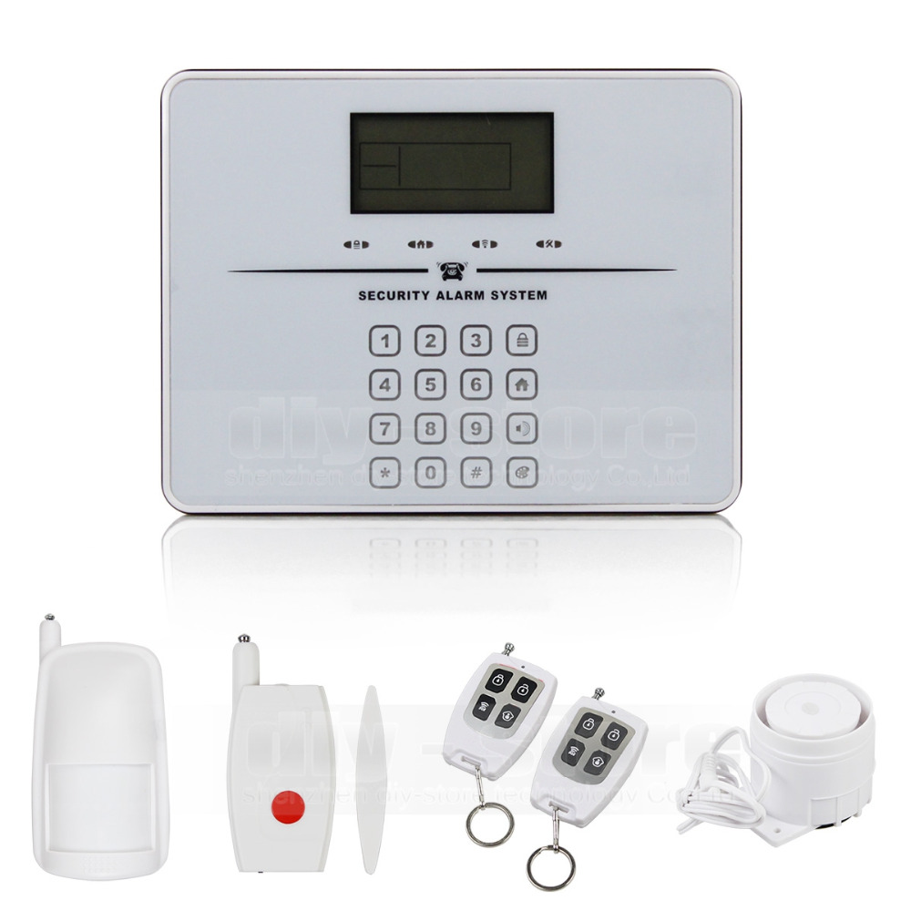 Voice touch keyboard wireless GSM telephone intercom monitoring residential burglar alarm system prompt(China (Mainland))