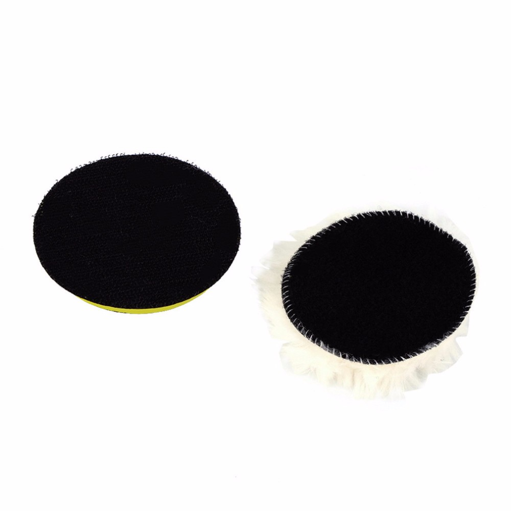 Free shipping 7PCS High Gross 75mm 3″ Polishing Buffing Pad Kit for Car Polisher Buffer with Drill Adaptor M14