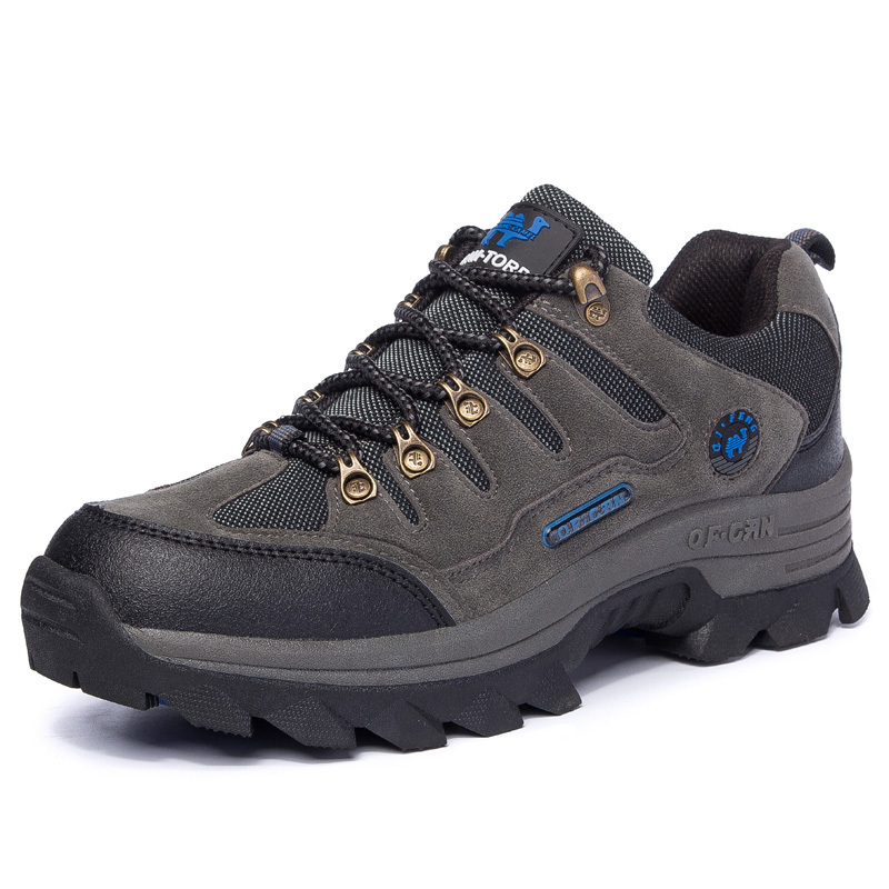 free shipping 2015 genuine leather outdoor hiking shoes