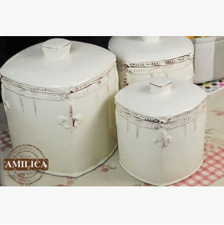 AMILICA HOME Distressed storage container cans | snack biscuit candy jar | Seasoning Spice jar(China (Mainland))