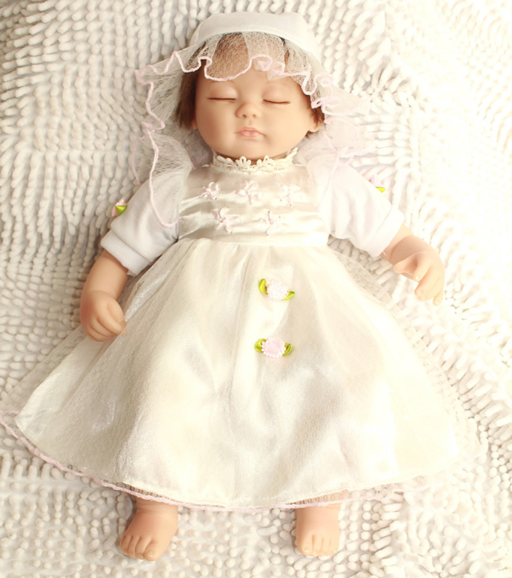 17inch Silicone Reborn Baby Interactive Dolls Lifelike Sleeping Girl Princess Kits Toys Women Collect Treats<br><br>Aliexpress