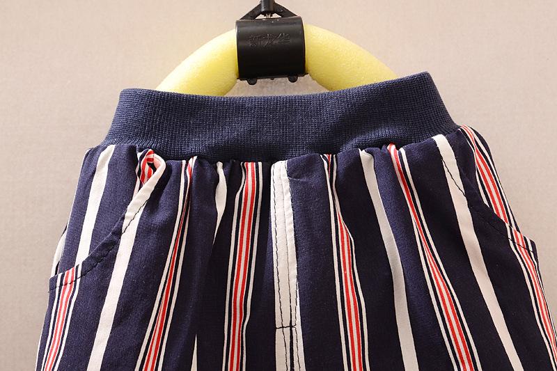 50% от детские летние одежда установить мальчик комплект одежды плед жилет галстук Tshirt + шорты брюки джентльмен костюм свободного покроя одежда