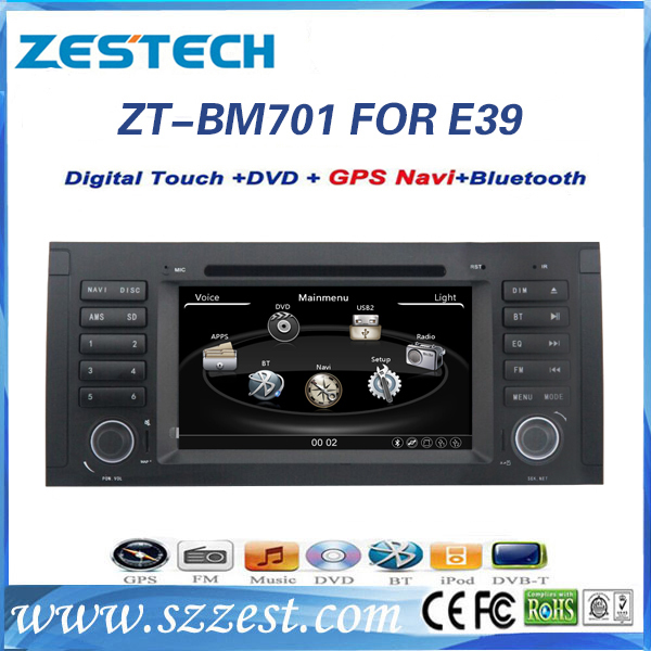 ZESTECH China products best price car dvd player for BMW E39 car dvd gps China supplier with GPS 3G bluetooth TV radio(China (Mainland))