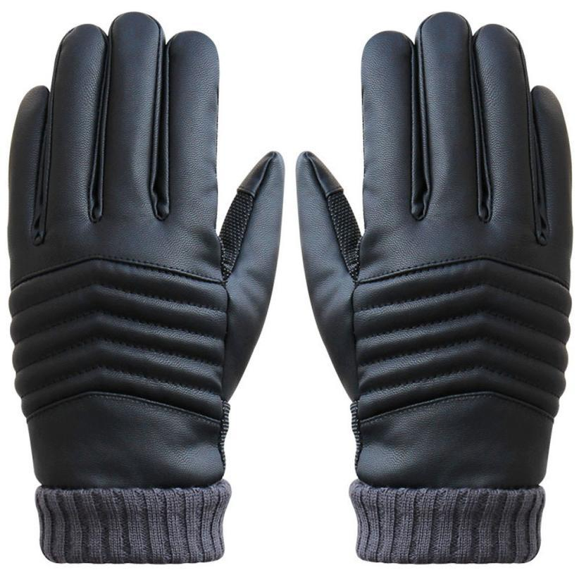Windproof Outdoor lady's Gloves Women leather glove Stretchy Soft winter Warm touch screen gloves mobile phone tablet pad - Jimshop Store store