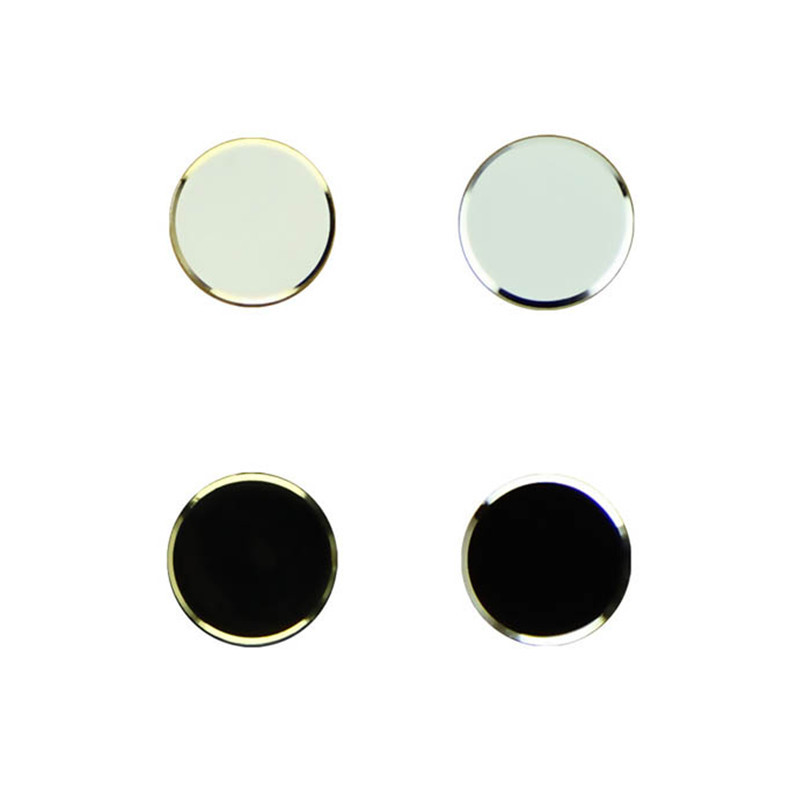 Hot-sale 2Pcs Black+ 2Pcs White Metal Aluminum Home Button Keyboard Keypad Sticker For iPhone 5 5S Wholesale Free Shipping(China (Mainland))