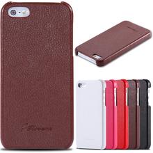 Чехол для Apple iphone 5 5S натуральная кожа, floveme 5S личи зернистость чехол 5 G мобильный телефон ультратонкий приталенный задняя часть для iphone 5S