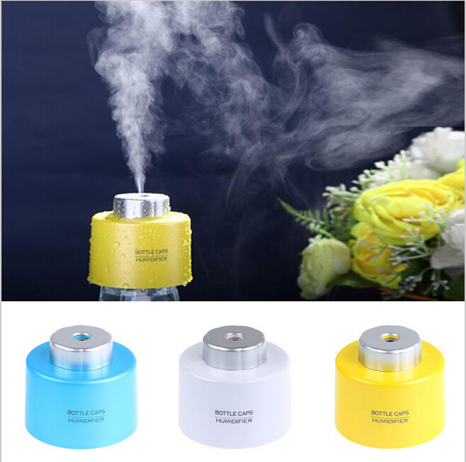 Гаджет  New Arrival Portable Bottle Cap USB Mini Humidifier  ABS Water  Air Aroma Mist for Office Living Room,Free Shipping! None Бытовая техника