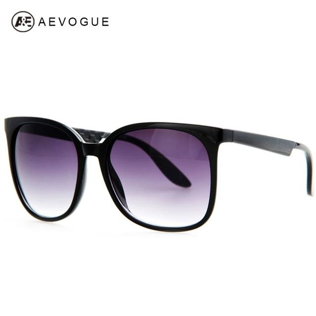 Aevogue новое марка старинные очки женщины высокое качество большая рамка горячая распродажа солнцезащитные очки 6 цветов óculos UV400 AE0172