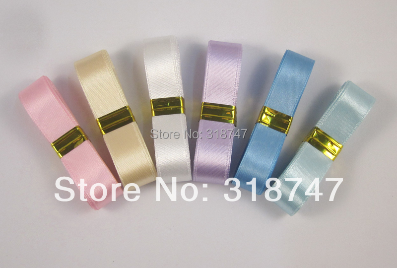 mixed 6colors 1 2 about 12mm solid color Satin Ribbon 18yards lot 040041 8