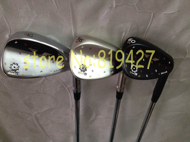 3pcs/lot RH Limited Black SM5 golf wedge 52.56.60 degree with steel shaft golf clubs New SM5 wedges(China (Mainland))
