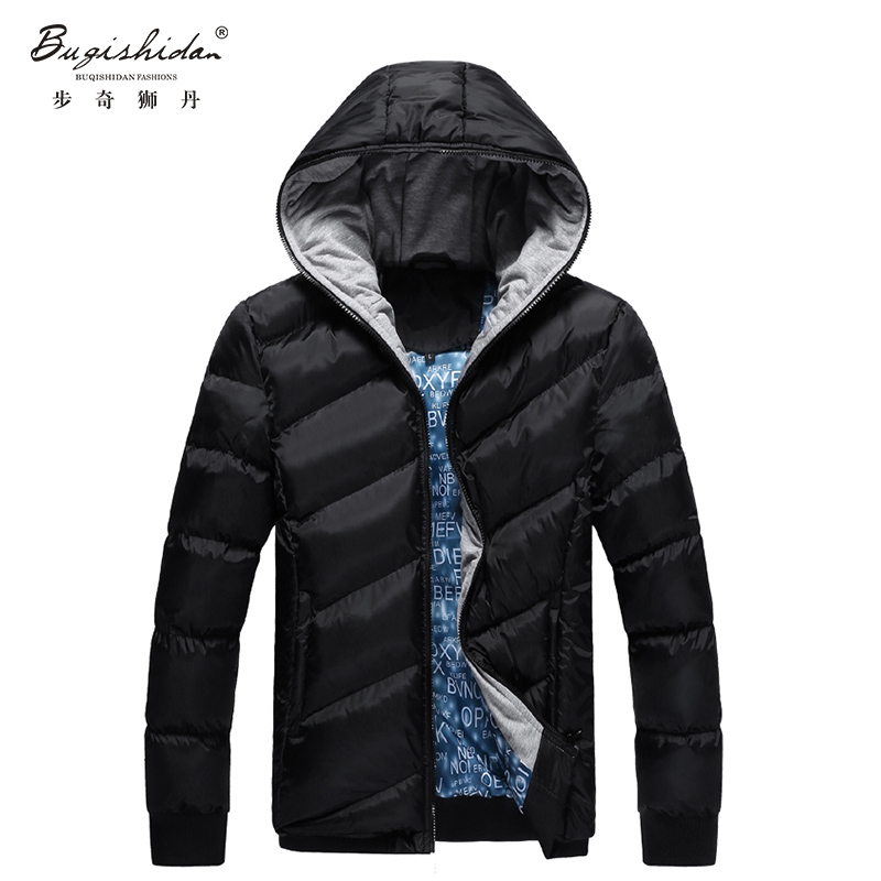 2016 Newest Mens Brand Solid Winter Thick Cotton Jacket Men Stand Collar Fashion Quality Parka Men Overcoat(China (Mainland))