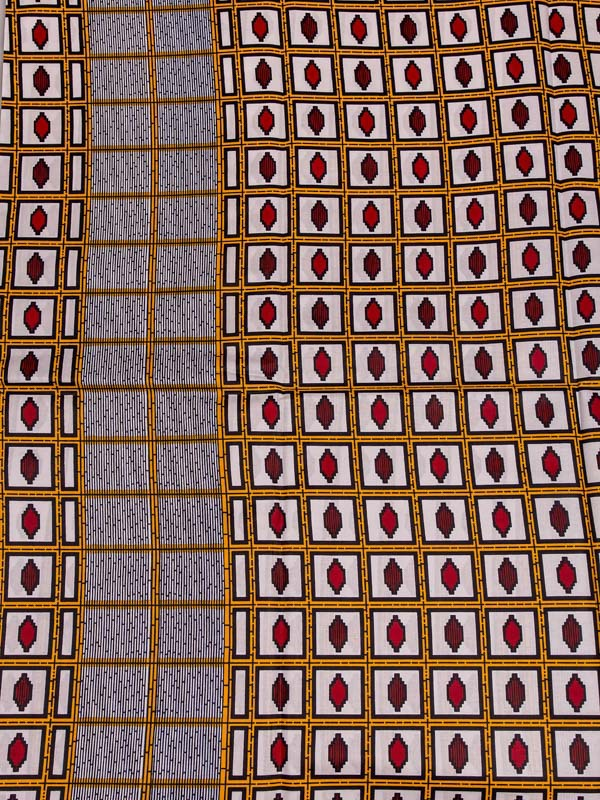 African Products Wholesale Real Wax White Squares Design Cotton Fabric rw501403(China (Mainland))
