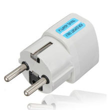 Universal AU UK US to EU AC Power Socket Plug Travel Charger Adapter Converter Free Shipping