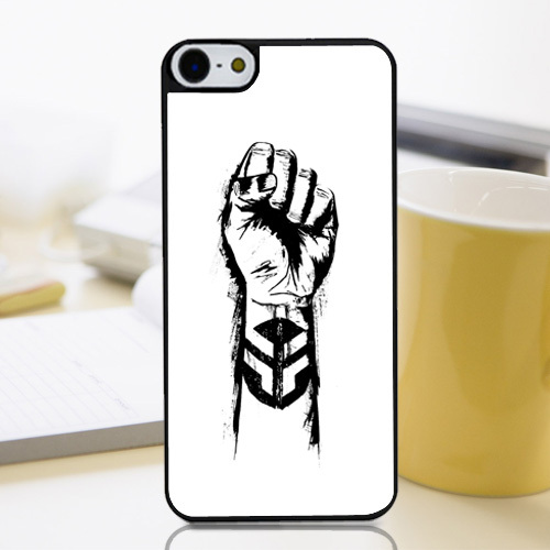 Michal Smelko Fist Logo Ride BMX Simple Sketch Customized Protective Phone Cover Perfectly Fit Case for Iphone4 4s 5 5s 5c 6 6+(China (Mainland))