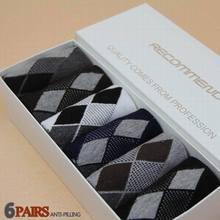 2015 New Hot Bamboo Fiber classic business brand men socks high quality cotton casual socks 6pairs=1lot NO BOX(China (Mainland))