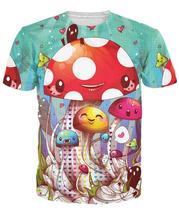 Mushroom Fantastic T-Shirt Cute Vibrant tees Women Men 3d Print Sport Tops Summer Style Fashion Clothing t shirt Outfits