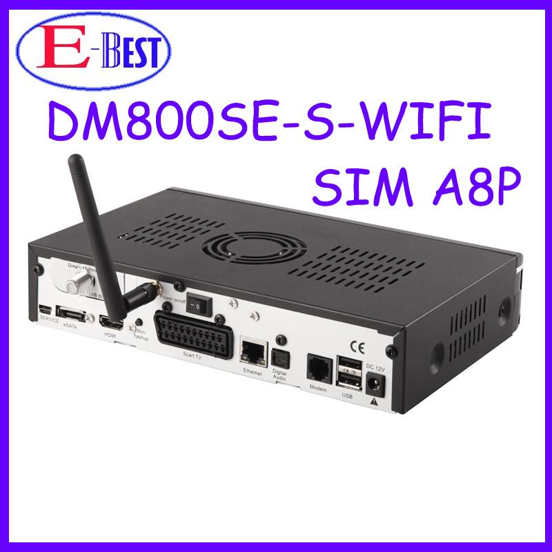 At stock!! DM800se orignal A8P Sim card Wifi Satellite tv Receiver 400Mhz Enigma2 BCM4505 Tuner Decoder dm800hd se(China (Mainland))