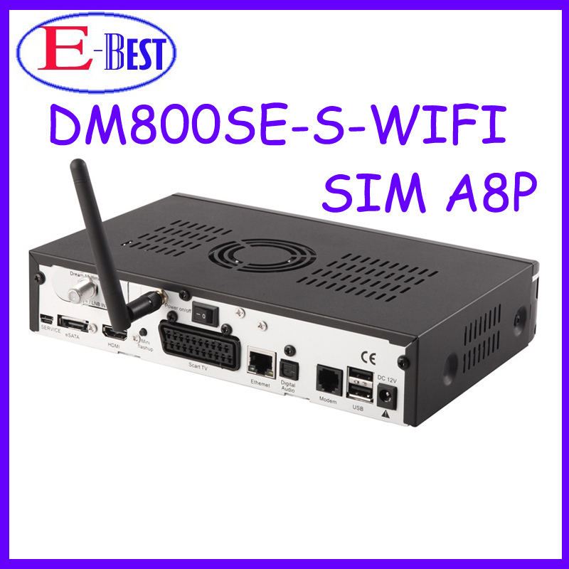 At stock!! DM800se orignal A8P Sim card Wifi Satellite tv Receiver 400Mhz Enigma2 BCM4505 Tuner Decoder dm800hd se(China (Mainland))