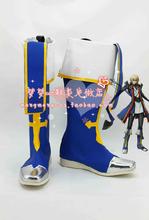 BlazBlue Jin Kisaragi Cosplay Shoes Anime Boots(China (Mainland))