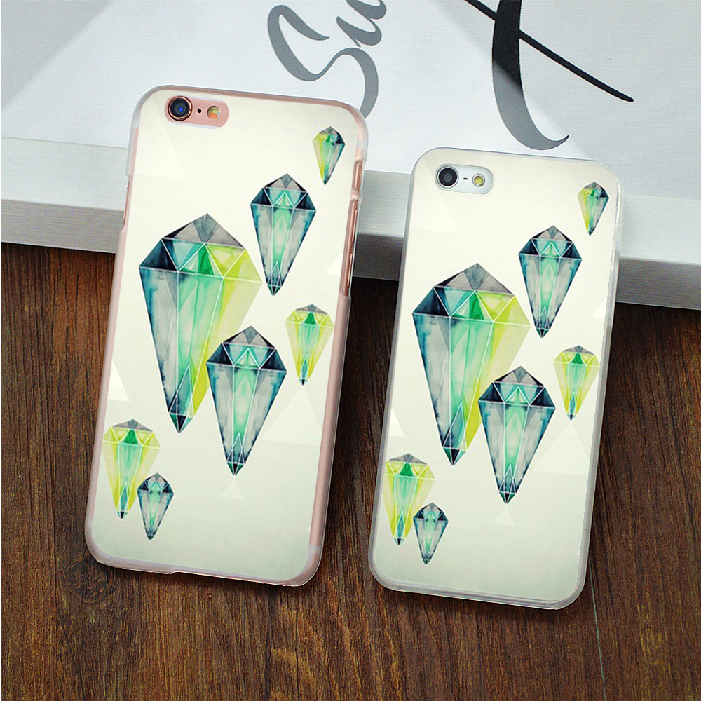 Phone case for Apple iphone 7 7plus 6 6s plus 5 5s SE 5c 4 4S Cases Color diamond jewelry Pattern For iphone7 phone Back Cover(China (Mainland))