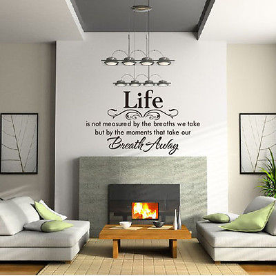 45*60CM Life is not measured Vinyl Wall Home Decor Decal Quote Inspirational Adorable,WALL ART STICKER DECAL MURAL TEXT QUOTE(China (Mainland))