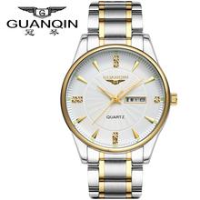 Origianl GUANQIN Top Brand Luxury Fashion Quartz Watches Mens Waterproof Luminous Date Men Watch Relogios Masculino Relojes