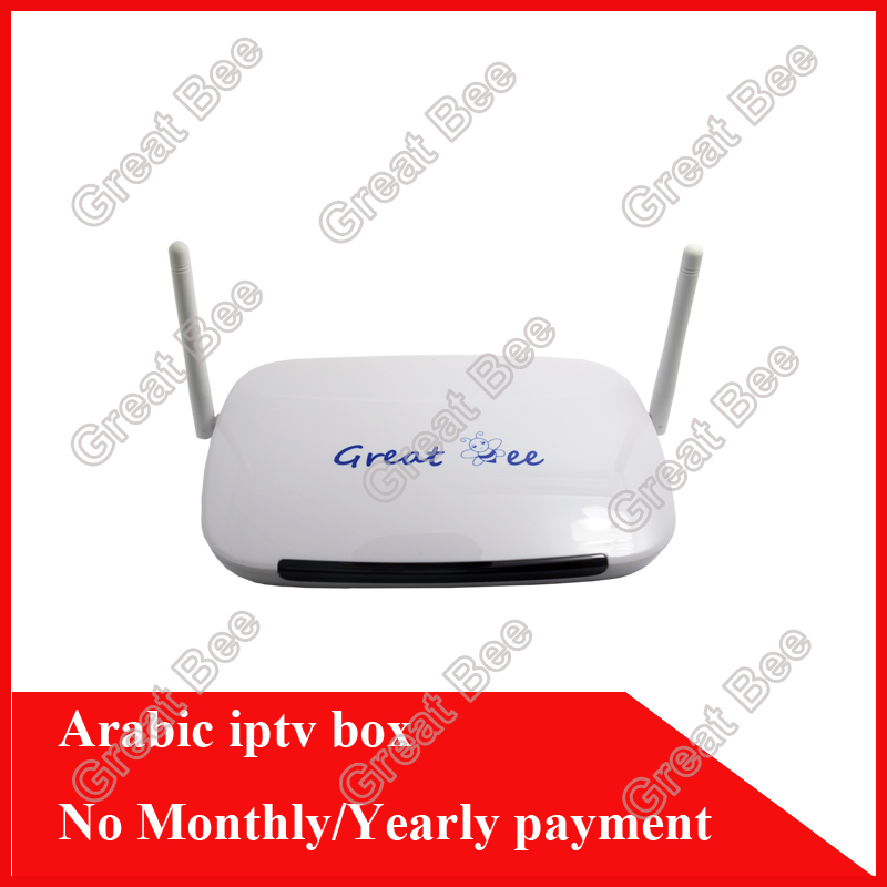 Hot Selling arabic iptv box Android 4.2 WiFi built arabic iptv box,free forever to watch(China (Mainland))