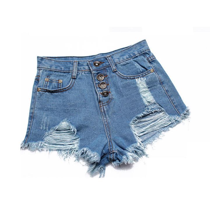 2016 New Summer Women Jeans Shorts Fringe Hole High Waist Shorts Black Cheap Jeans Autumn Spring Lady Fashion Short Pants(China (Mainland))