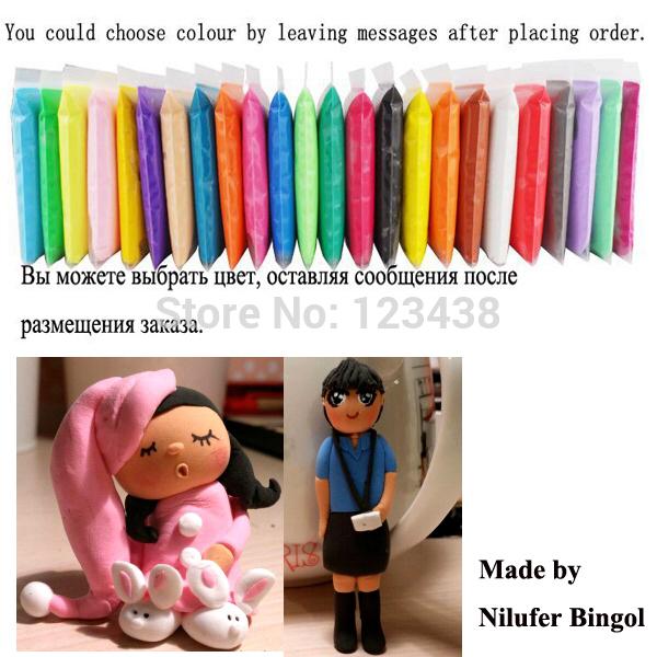 Playdough Polymer Clay Ultra-light Set Eco-friendly Plasticine Play Dough,8 Bags*20 Grams , Air Dry(China (Mainland))