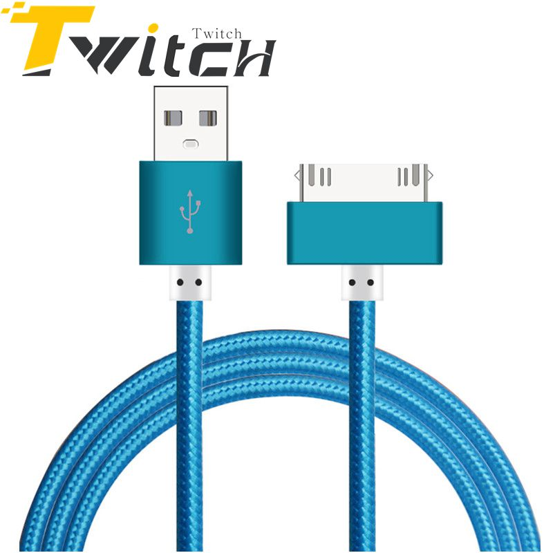 100% Original 1M 1.5M Usb Cable Braided for Iphone 4 4s Fast Charging Mobile phone cable Sync Data Charging For iPad 2 3 iPod(China (Mainland))