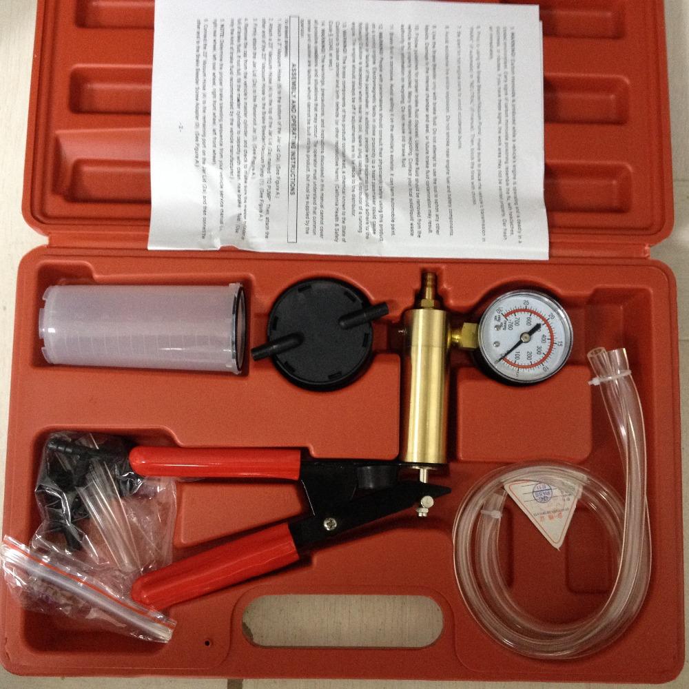 2015 latest Car/Moto Hand Held Vacuum Pump Brake Fluid Bleeder/Bleed/Bleeding Gauge Pressure Test Tester Diagnostic Tool Set(China (Mainland))