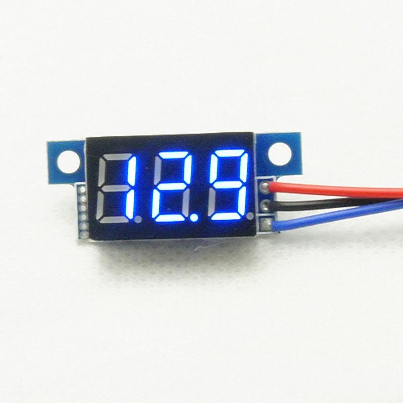 Direct Current DC0-200V 0.36Inch Blue LED Digital Display Voltmeter Panel H1E1<br><br>Aliexpress