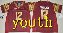 Nike 2017 Youth Florida State Seminoles Deondre Francois 12 College Boxing Jersey - Red Dalvin Cook 4 Deion Sanders 2(China)
