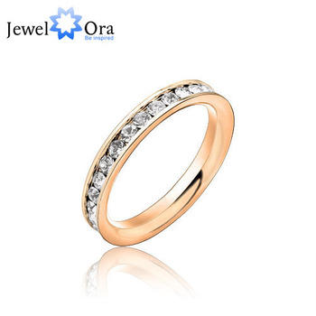 Wedding Ring & Daily Casual Jewelry Accessories Womens Stainless Steel Ring For Weddings & Events (JewelOra Ri100190)